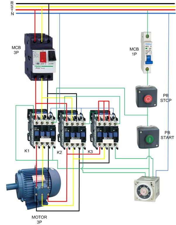 Single Phase Motor Reversing Contactor Single Circuit